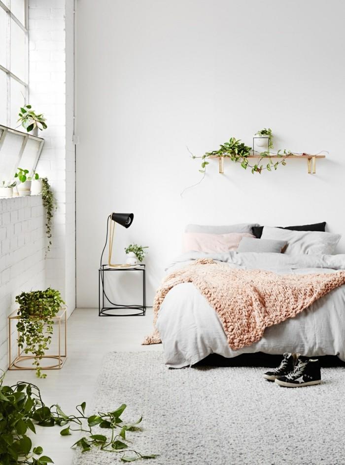 modernes wohnen schlichtes interieur durch pflanzen aufpeppen