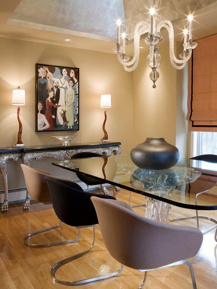 modernes wohnen stilvolle stühle für das esszimmer