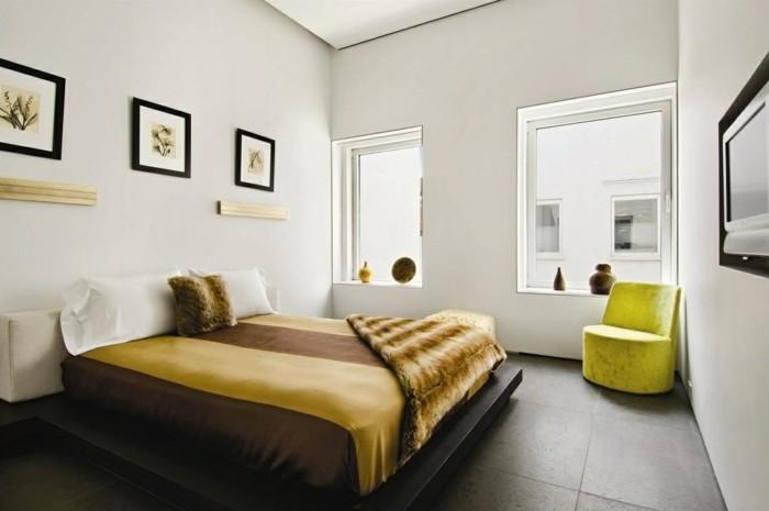 modernes wohnen wohnideen schlafzimmer mit grünen akzenten