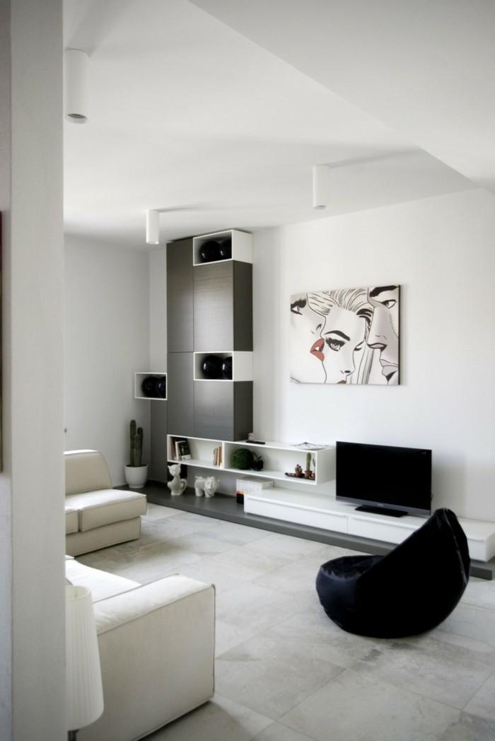 modernes wohnen wohnzimmer in neutralen farben