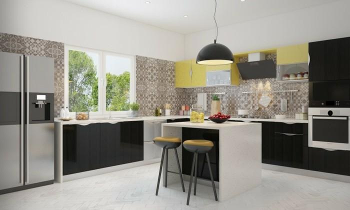modulküche stilvolle farbkombinationen und wunderschöne küchentapeten