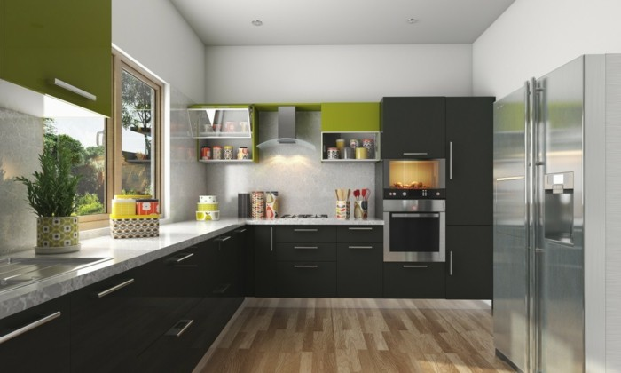 modulküche trendige farben kombinieren und frische akzente setzen