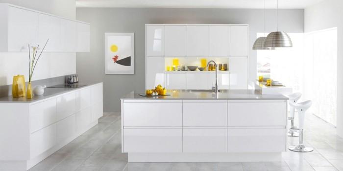 modulküche trendige küche in weiß