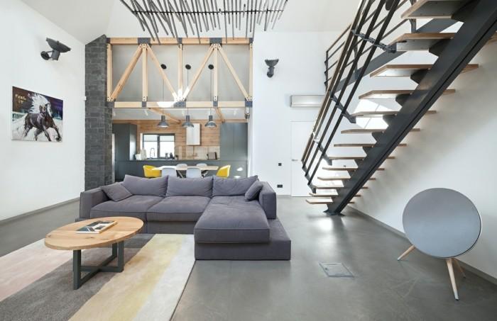 offener wohnplan wohnzimmer