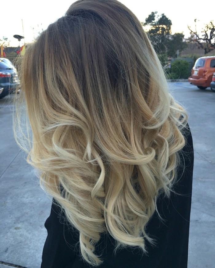 ombre blond haar dunkelblond