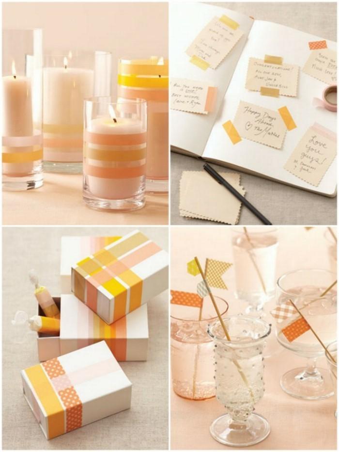 partydeko sommer geschenkbox gläser vasen