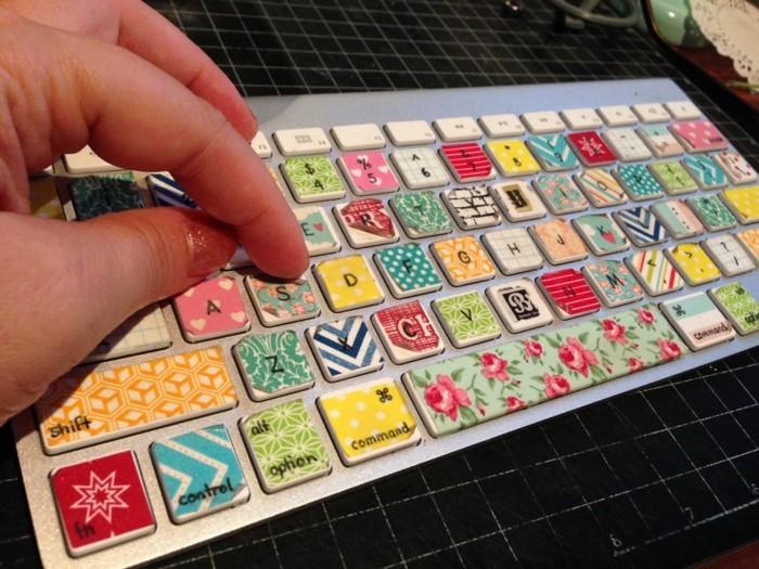 pc tastatur selber dekorieren mit washi tape
