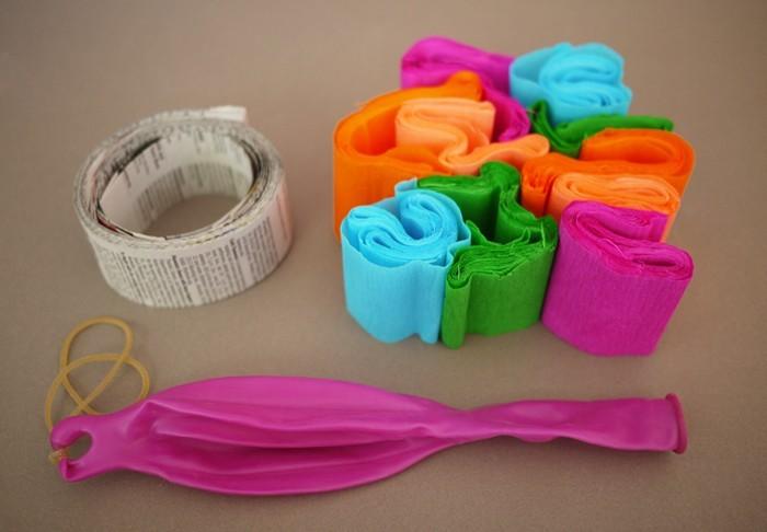 pinata basteln kindergeburtstag feiern geschnek für die kinder pappmaschee material