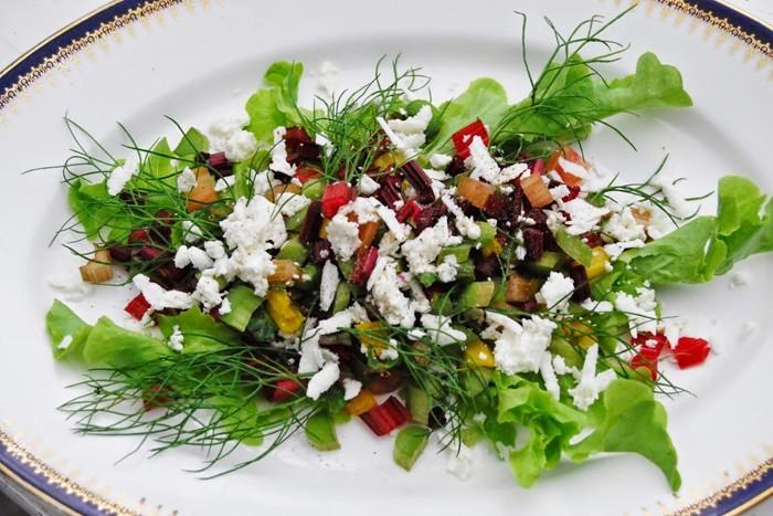 rezepte mit mangold feta salat tomaten
