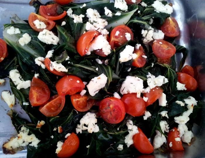 rezepte mit mangold feta salat