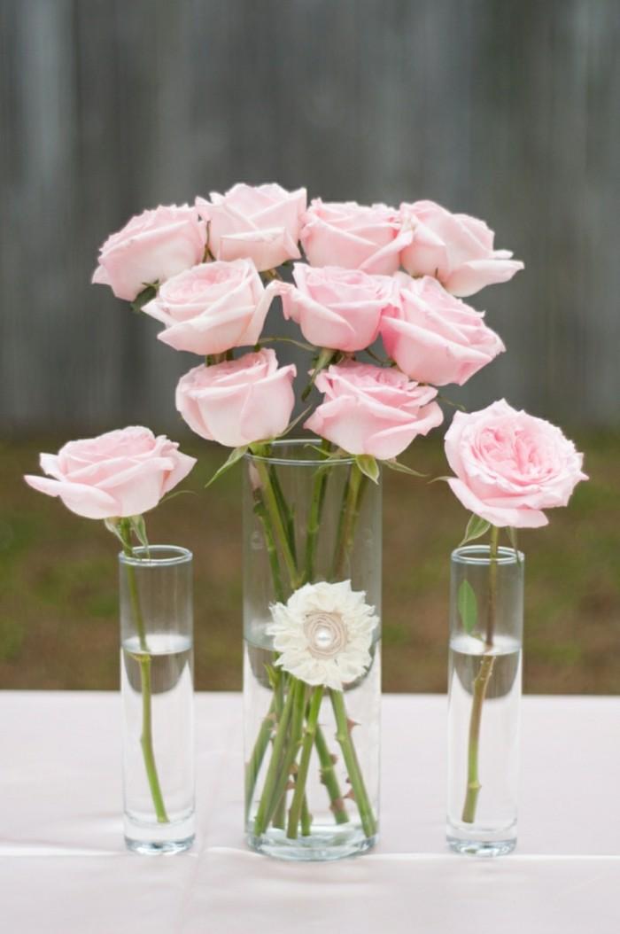 rosen als dekoration fü die hochzeit