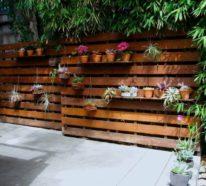 Gartenzaun selber bauen aus Paletten - Ausgefallene DIY Ideen für ...