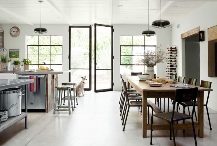 schöne wohnideen für die küche offener wohnplan