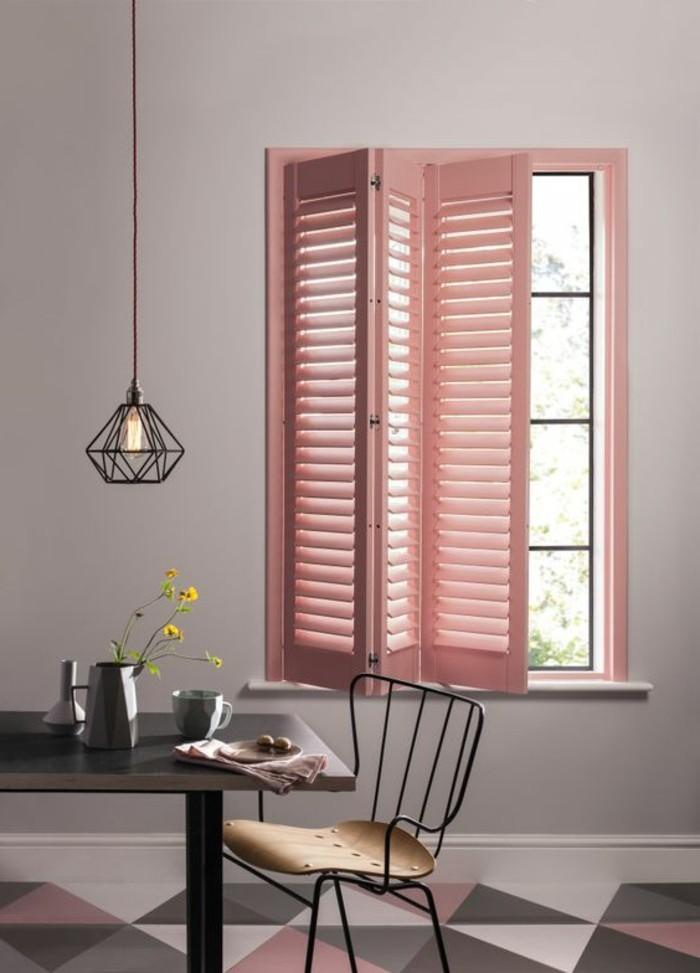 schöne wohnideen in millennial pink für den essbereich