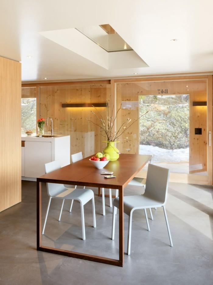 schöne wohnideen in minimalistischen stil für das esszimmer