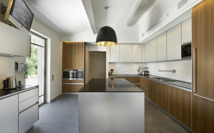 schöne wohnideen moderne minimalistische küche mit led streifen