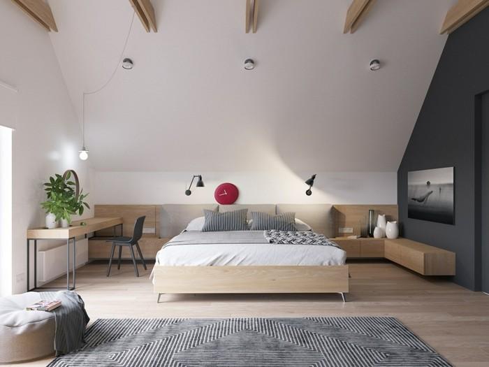 schöne wohnideen skandinavisches schlafzimmer mit schönen stoffmustern