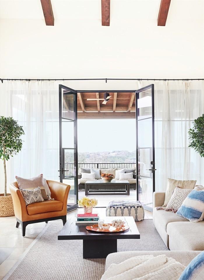 schöne wohnideen wohnzimmer einrichten mit einem frischen flair