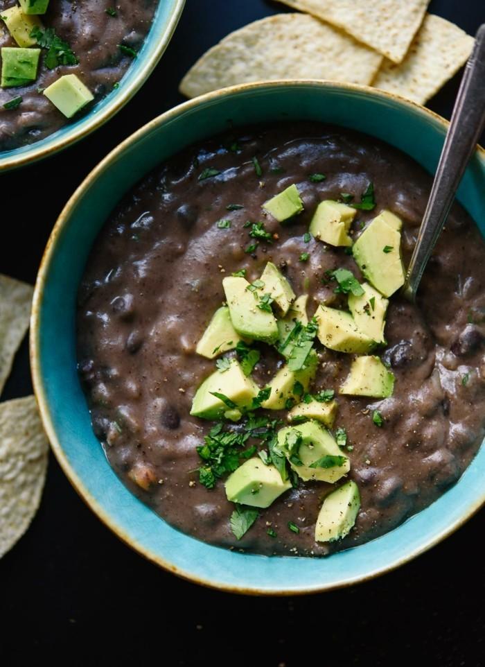 scharfe schwarze bonen suppen rezept