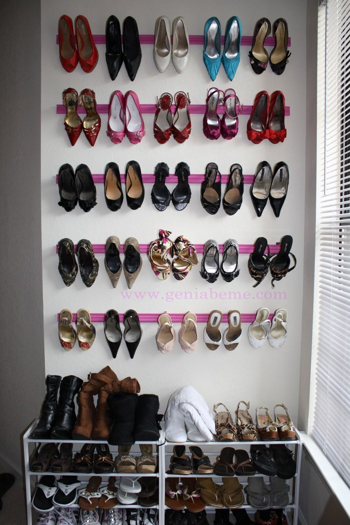 Shoe rack build your own old wall shelf made new