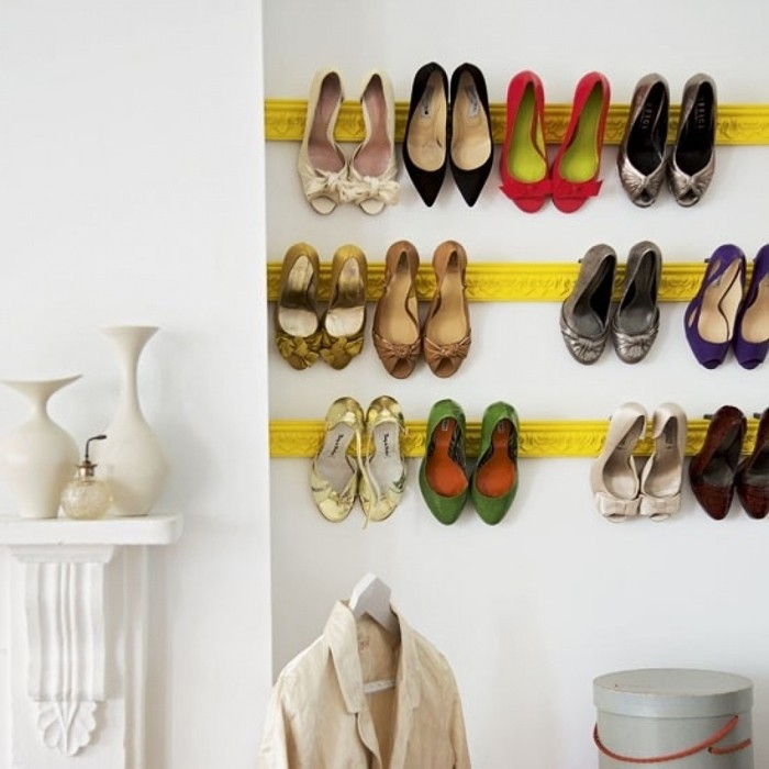Shoe rack build your own plaster wall shelf