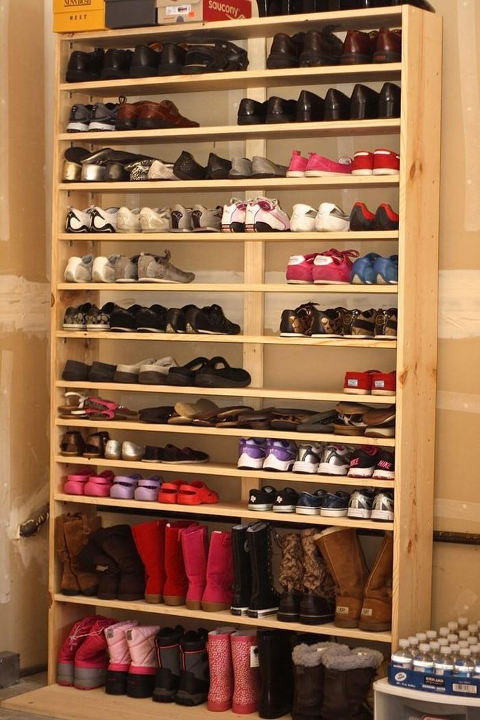 Schuhregal selber bauen der eigene bedarf bestimmt das design for Schuhregal design