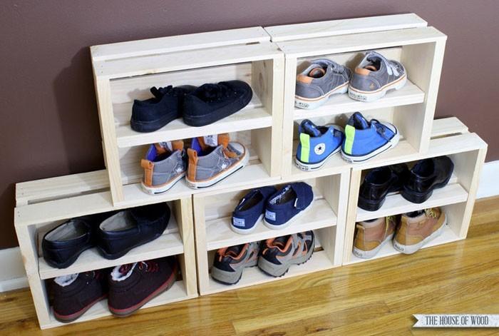 schuhregal selber bauen der eigene bedarf bestimmt das design. Black Bedroom Furniture Sets. Home Design Ideas