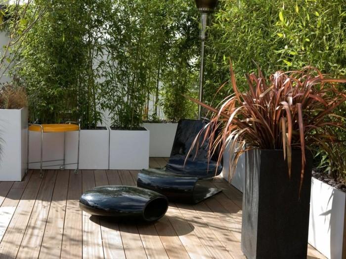 sichtschutz pflanzkübel moderne gartenmöbel und kreative gartenideen