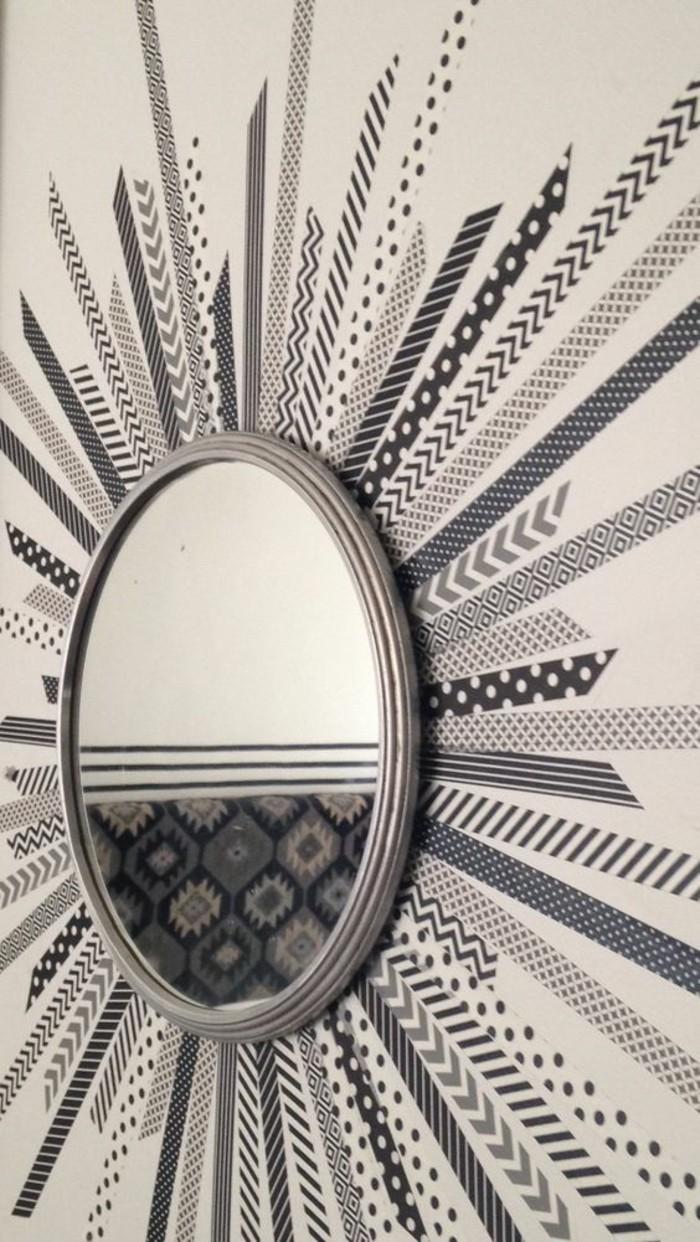 spiegel mit washi tapes dekorieren