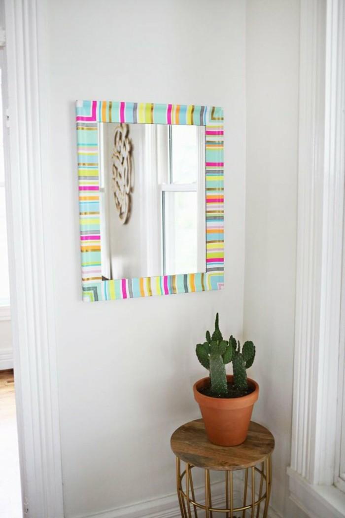 spiegelrahmen dekorieren ideen mit washi tape