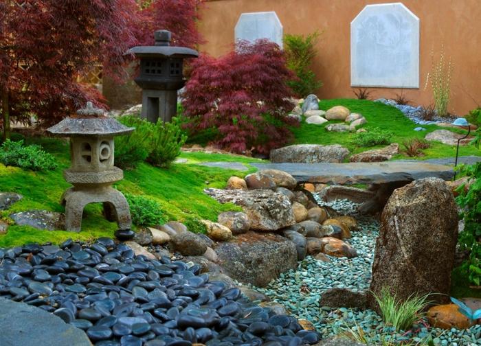steingarten anlegen unterschiedliche arten von steinen kombinieren