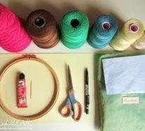 Sticken lernen und dem kreativen Trend zuwinken