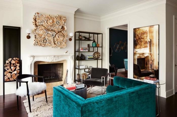 stilmix wohnung einrichten samt sofa kamin retro stühle wohnzimmer einrichtungsfehler