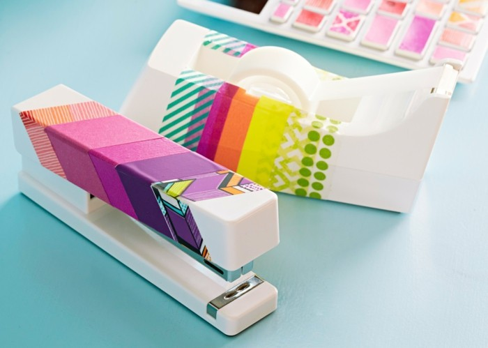 tacker dekorieren washi tape ideen