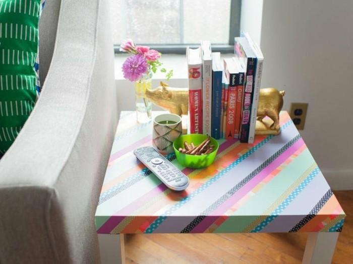 tisch selber dekorieren mit washi tapes