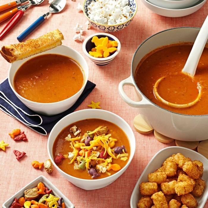 tomaten suppe zubereiten für die party