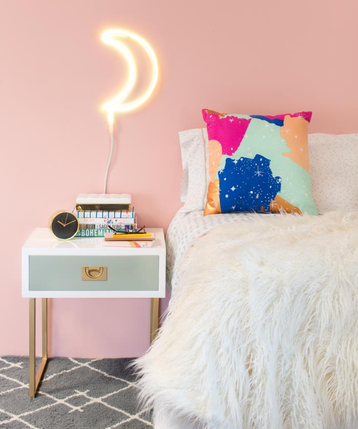 trendfarben 2017 millennial pink als wandfarbe im schlafzimmer
