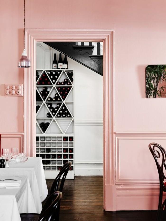 trendfarben 2017 millennial pink sanfte wandfarbe fürs esszimmer