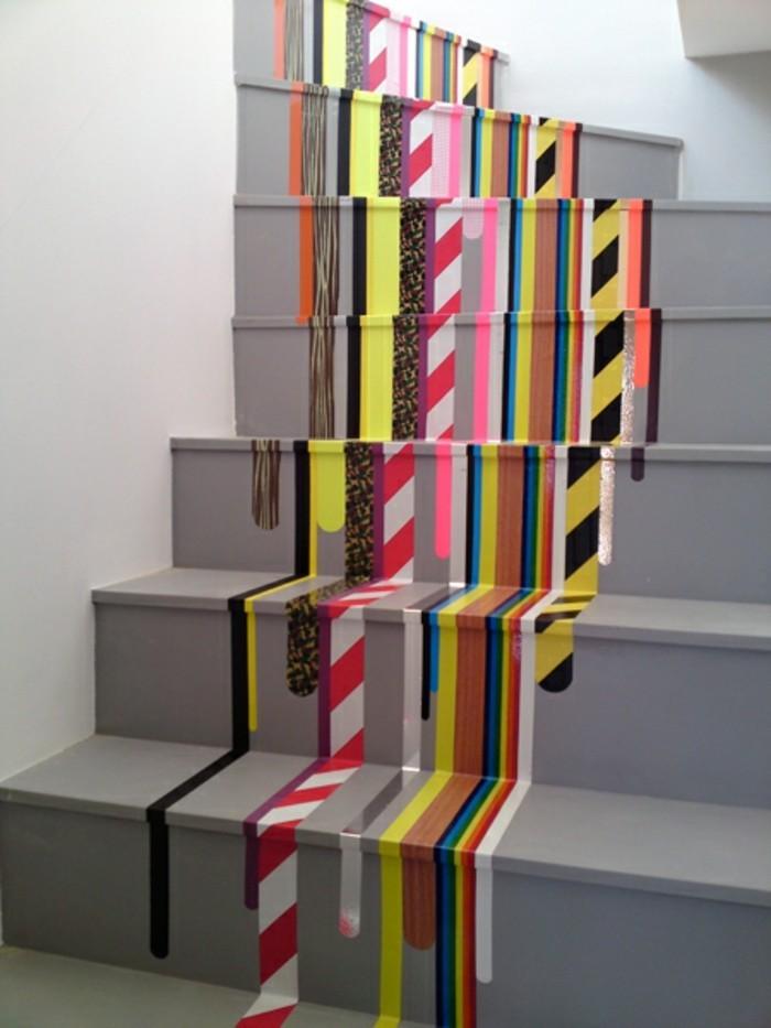 treppen mit washi tape selber dekorieren