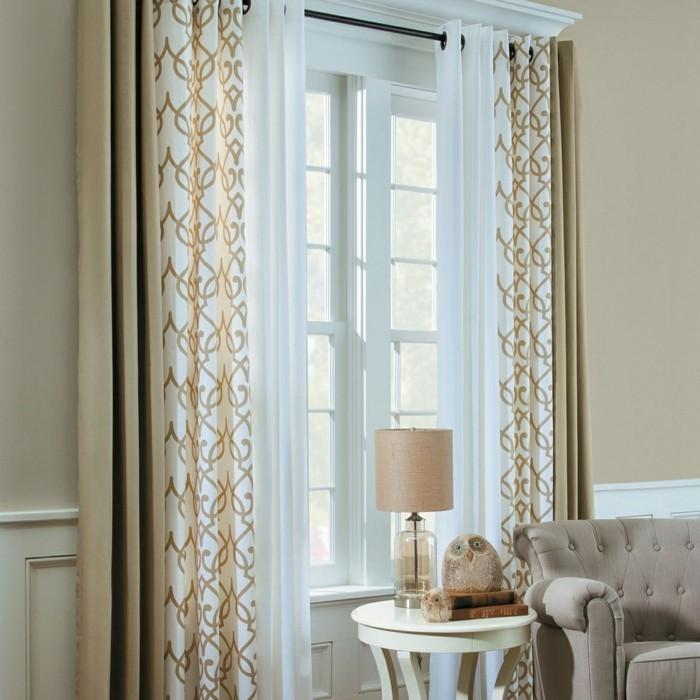 vorhänge richtig ausmessen fenster gardinen wohnzimmer