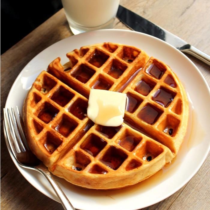 waffel rezepte erdbeereis butter