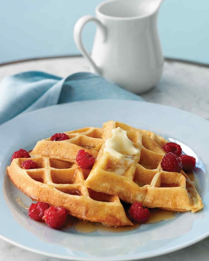 waffel rezepte erdbeereis gesund frühstücken
