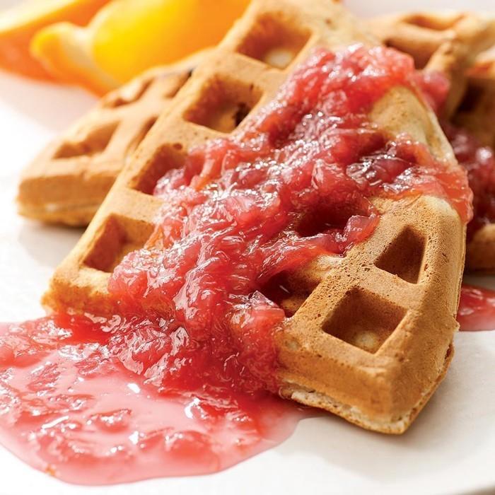 waffel rezepte erdbeereis marmelade