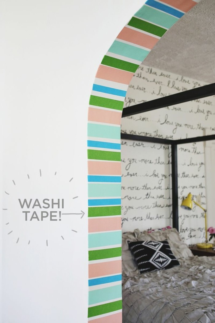 wanddekoration arkaden dekorieren washi tape