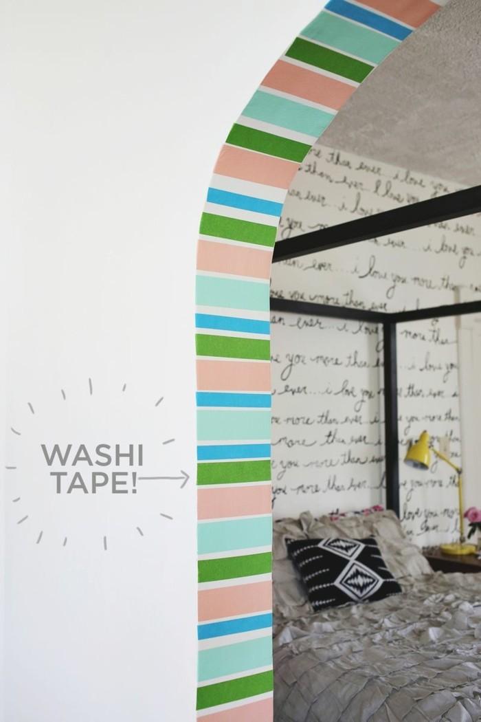 wanddekoration arkaden dekorieren washi tape