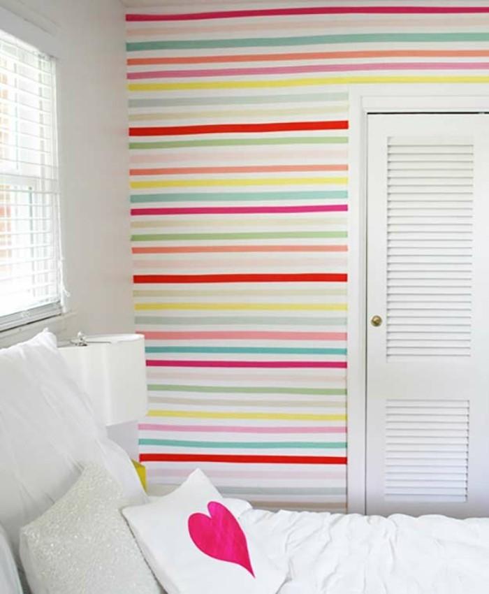 wanddekoration mit washi tape selber machen schlafzimmer
