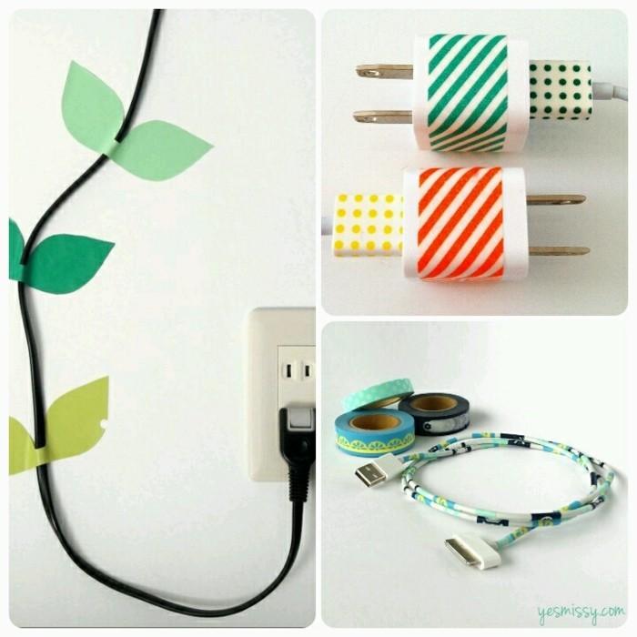 washi tape dekoideen ladegeräte kabel