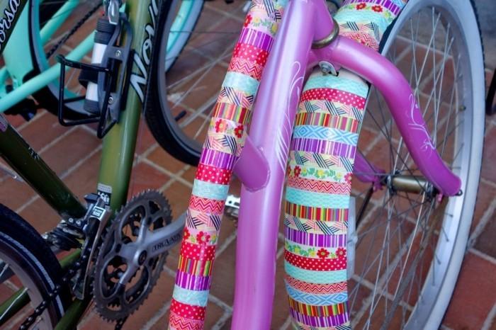 washi tape ideen fahrrad selber dekorieren
