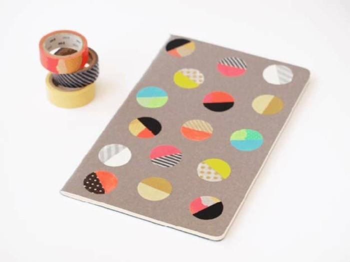washi tape notebook ideen heft selber dekorieren