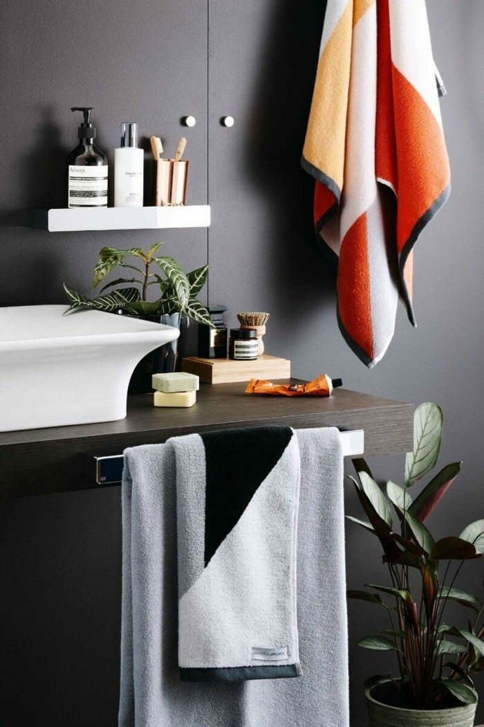 wohnideen für das badezimmer schöne muster als dekoration